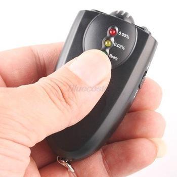 Portable LED Alcohol Breath Tester Analyzer Breathalyzer w/ Keychain Flashlight, easy carrying