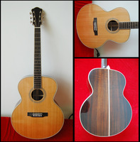 high quality fully handmade solid wood acoustic guitar