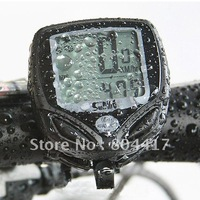 Wholesale Guaranteed New 100% Wireless LCD Bike Bicycle Cycle Computer Odometer Speedometer Waterproof+Free Shipping