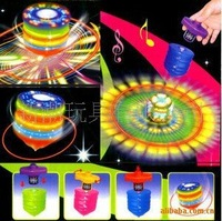 12pcs/box wind up laser big spinning top with 5 lights and music-LHTL
