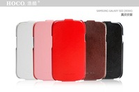 Top Quality HOCO Flip Real Leather Case For Samsung Galaxy S3 i9300 Leather Cover Original 5 Colors Mixed Free Shipping