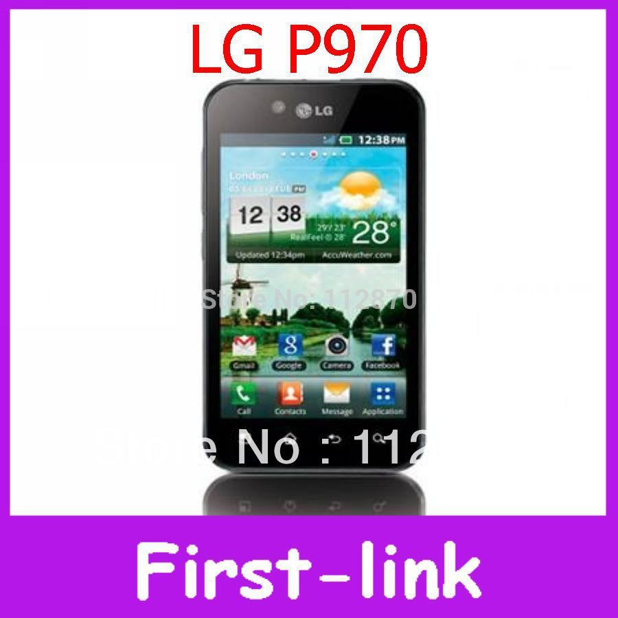 "12 months warranty P970 Original LG Optimus P970 GPS WIFI 4.0"" 3G 5MP Unlocked Mobile Phone FREE SHIPPING(China (Mainland))"