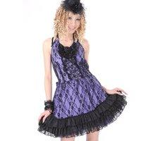 Punk  Punk Dress Gothic Lolita Small gothic black dress 61193