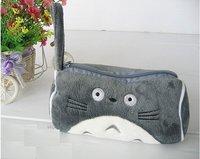 Grey Totoro Plush Pencil Case Box Cosmetic Bag Pouch-large Totoro plush pencil box