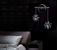 Freeshipping Flowery noble shine light colors 2 crystal wall lamp /asfour crystal wall lamp
