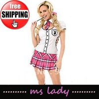 New arrival! Free shipping sexy party dress, schoolgirl sexy, sexy schoolgirl uniform HK airmail