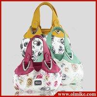 free shipping sale women Small bag 2012 summer new lady fresh handbag ladies pu hand bags Ms. color printing 30*20*11CM BB019