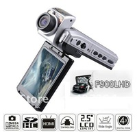 "Free Shipping 50pcs/lot Car DVR 2.5"" TFT LCD Full HD 1080P Cam Recorder Camcorder Vehicle Dashboard Camera F900LHD"