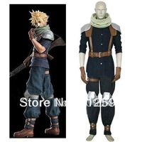 Free Shipping Final Fantasy VII Crisis Core Cloud Strife Cosplay Costume