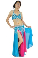 New High Quality Belly Dancing Costume 2 pics set of  Bra&Belt 12 colors,Bra Size:34B/C,36B/C,38B/C,40B/C,