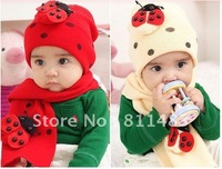 Beetle sets of cap children's cartoon hat scarf hat suits animal hat