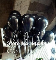 Free Shipping 50pcs/lot Black Big Latex Flat Balloon, 36 Inch size, Can Inflate 110cm
