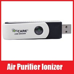 USB Silent Ionic Ionizer Fresh Ozone Air Purifier, Free Shipping(China (Mainland))