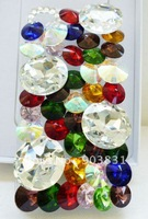 Free Shipping High Quality colorful stone Hard Case Cover For mobile  phone 4 4G 4S