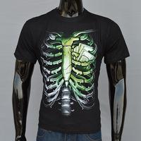 Free shipping Men's short sleeve t-shirt 2015 new original influx of men 3D ribs printed round neck  T-shirt men's T-shirt
