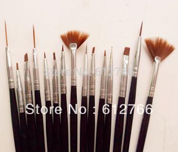 nail brush set 15pcs brush set free shipping