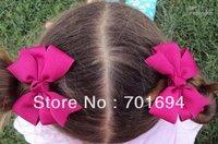 infant  zebra hairbows Girls' Hair Accessories Baby hair bows Baby grosgrain ribbon hairbows cute 60pcs/lot