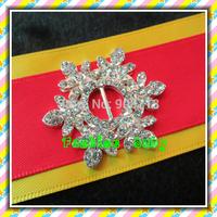 fashion style rhinestone snowflake buckle for wedding invitation cards