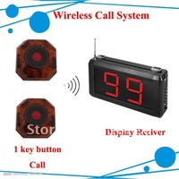 Lowest price Restaurant Paging System ; 1pcs receiver + 5 pcs button ; One Year Warranty