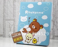 Rilakkuma special knitting matting PU leather smart cover case for IPAD 2,3 &for the New ipad--Wholesales price