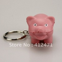 Free Shipping Wholesale High Quality simulation soft PU foam material with Keychain pig