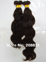 Hot Selling 100%  Brazilian Virgin Hair Body Wave Color#2 Dark Brown Human Hair Weave 5a Unprocessed Virgin Hair, Free shipping