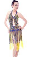 Hight Quality belly dance Costume Latin Ballroom dance Bra Top skirt dress 4 colors