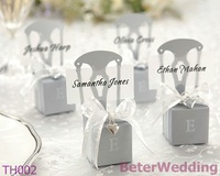 Silver Chair Wedding Favor Box, Place Card Holder, TH002/A Party Decoration