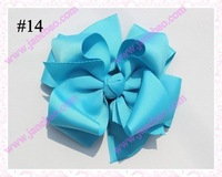 free shipping 60pcs 4.5'' fashion newest big layered hair bows popular girl  baby hair bow clips