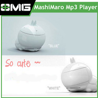 Free shipping,cute cartoon rabbit mp3 player 2GB. Good gift for children.