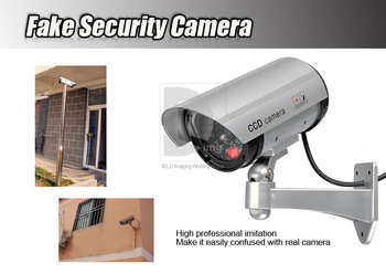 New Outdoor Fake Dummy Security Cameras Camera Bullet LED BLINKS Camera Free Shipping
