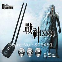 FREE SHIPPING Black-diamond 2 antenna double power X880 high power 3800mW 28db lan card usb wifi adapter wireless