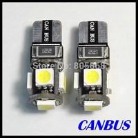 Lights Free Shipping 10pcs/lot T10 Canbus W5w 194 5050 Smd 5 Led Light Bulbs
