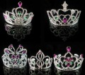 70pcs/lot party princess queen crown plastic silver free size Halloween wedding party supplies mix designs free shipping
