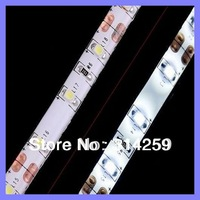 Free Shipping (50meter/ Lot)  waterproof 5m 500CM 3528 SMD LED Flexible 300 LEDS Strip White/warm white/red/blue/green+Connector