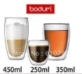 450ml 2pcs/lot Europe Style Double Wall Glass Coffee Cup Teacup 450ml