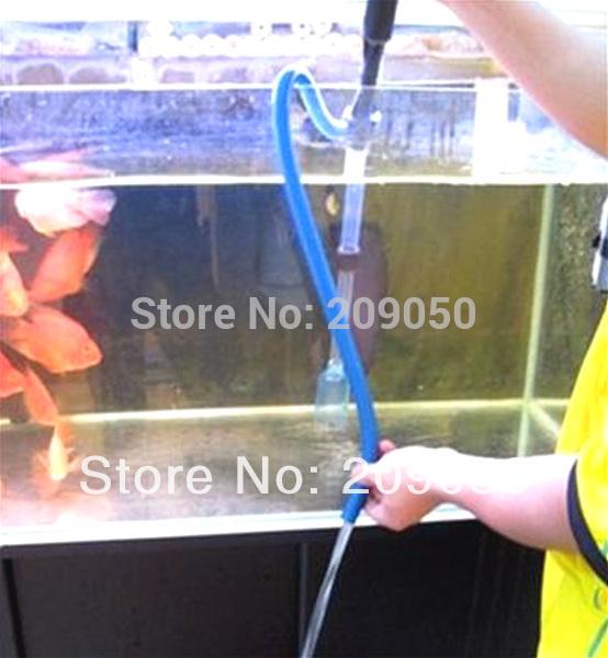 Aquarium Battery Syphon Auto Fish Tank Vacuum Gravel Water Filter Cleaner Washer