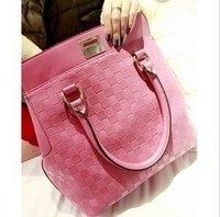 2012Hot Sale PU fashion shoulder bag Popular OL Lovely Ladies Bag Factory Sale bag free shipping