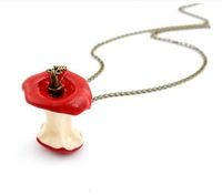 Artilady 2013 red apple Pendants Necklaces long necklace  fashion Necklaces jewelry for women Free shipping