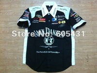 2012 NEW HOT Pit Crew SHIRT F1 MOTO NASCAR BLACK&white
