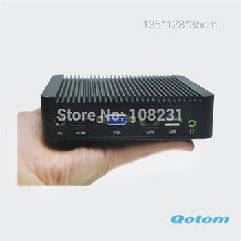 Fanless Mini pc hdmi cheapest desktop computer,Qotom-Q100 Fanless industrial computer,Qotom-I37C4