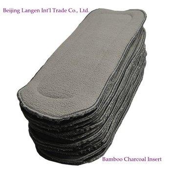 Free shiping organic bamboo charcoal insert for baby cloth diaper 30pcs wholesales