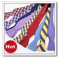 Hot Sale!! Wholesale Women & Men's Self bow tie Fashion PRETIED TIES BOW TIE neckwear Free Shipping 50pcs/lot #0822