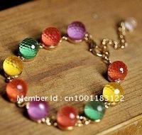 multicolour glass bracelet.  sweet glass bracelet. glass crystal fashion bracelet