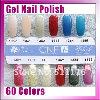 Free Shipping+HOT sale 14pcs CNF UV & led soak off gel nail polish(10 colors nail polish.+2free base coat .+2free top coat)