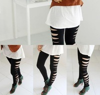Adult Side Ripped Torn Slashed Gothic Women's New  Pants Leggings