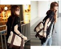 2012 new multi-function Lady Girl sports leisure Canvas bag Leather Hobo handbag backpack satchel shoulder bag