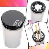 Pro Nail Art Brushes UV Pen Holder Cleanser Cup Glass Plastic Cleaning Brush Bottle