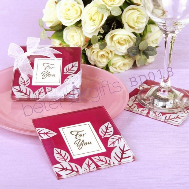 Fall Impressions Glass Photo Coasters BD018(8pcs 4set)use as party Decoration@BeterWedding Wholesale(China (Mainland))