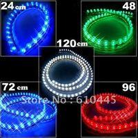 50PCS  PVC Flexible Car LED strip light Waterproof 24 LED lamp 24cm car decoration light led car light free Shipping